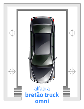 elevador de carros Bretão Truck Omni