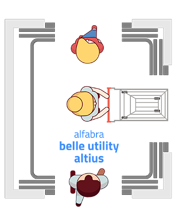 elevador de uso misto Belle Utility Altius